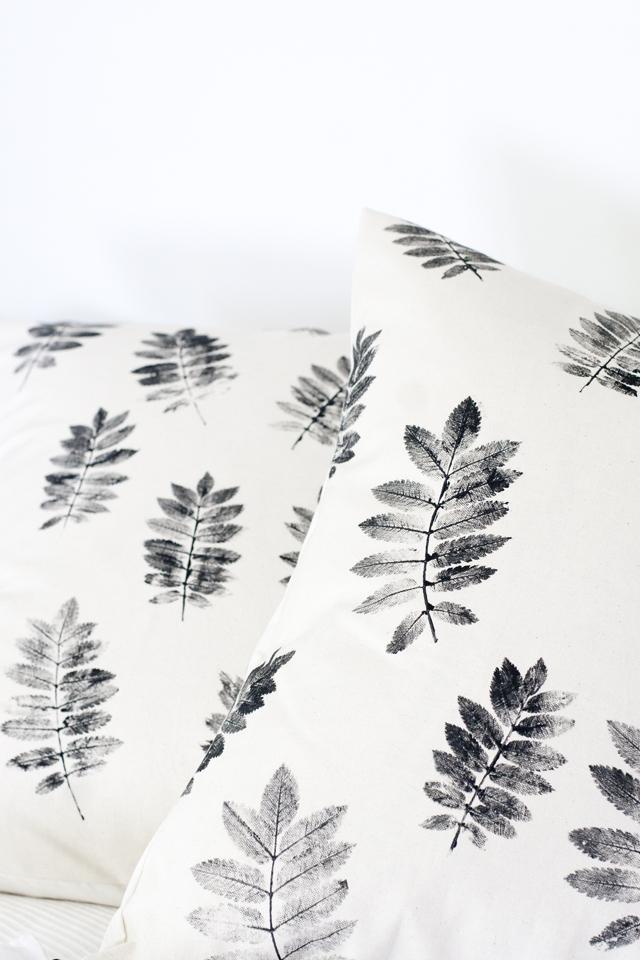 Cojines estampados con hojas - Handfie