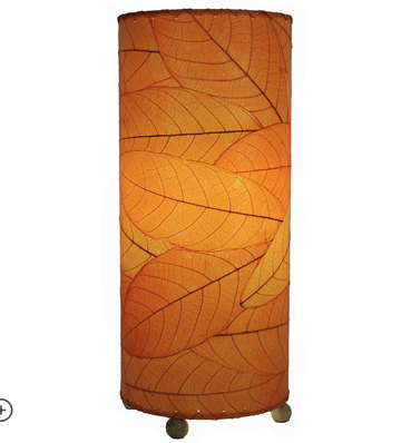 lampara de mesa con hojas - Handfie