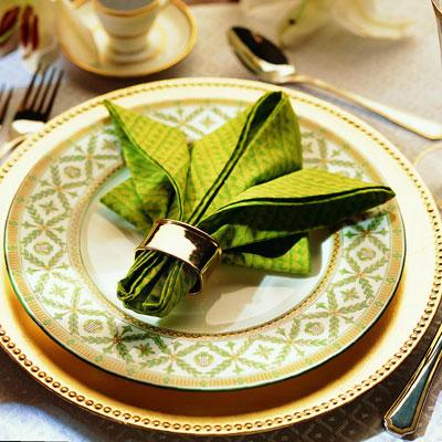 hojas hechas con servilletas - Handfie