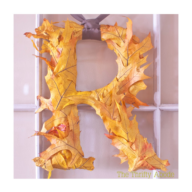 letras con hojas - handfie