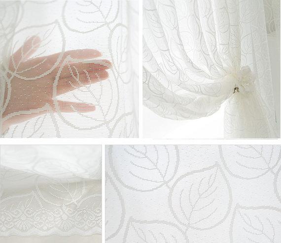cortinas con hojas - Handfie