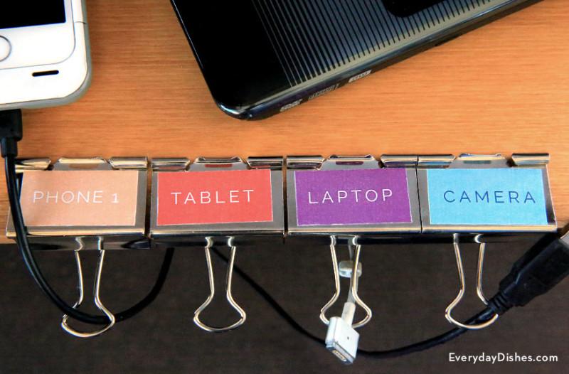 ideas geniales para organizar tu escritorio - clips