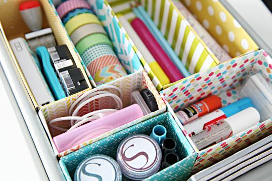 ideas para organizar tu escritorio - cajones