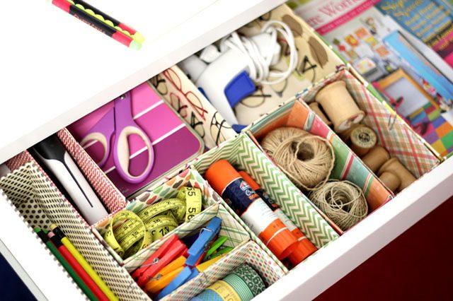 Ideas geniales para organizar tu escritorio - cajones