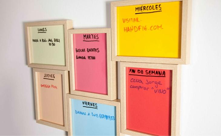 Ideas geniales para organizar tu escritorio - organizador semanal