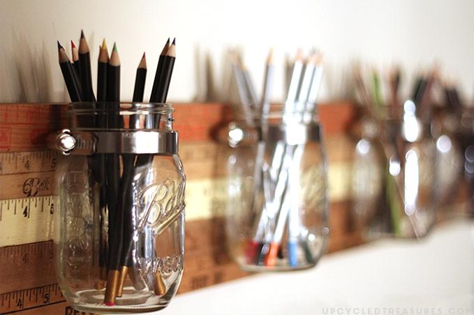 ideas para organizar tu escritorio - botes