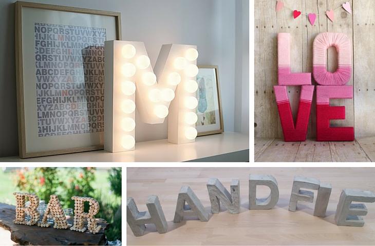 letras diferentes y creativas para decorar - Handfie