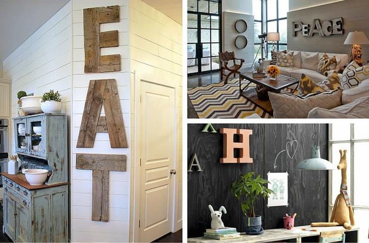 Letras grandes para decorar - Handfie