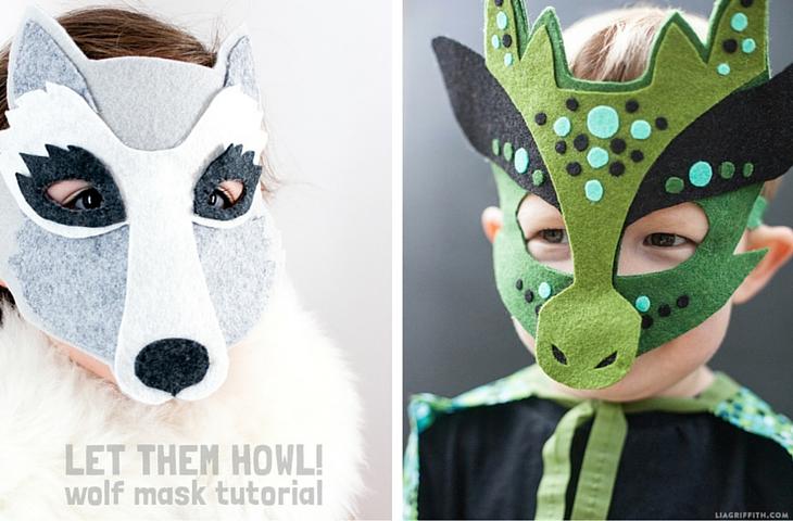23 manualidades con fieltro - Handfie - Máscara disfraz
