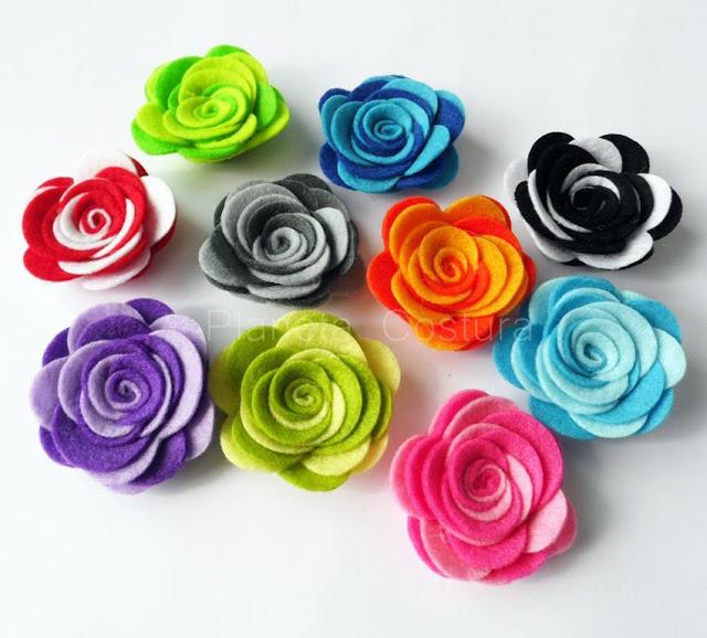 23 manualidades con fieltro - Handfie - flores