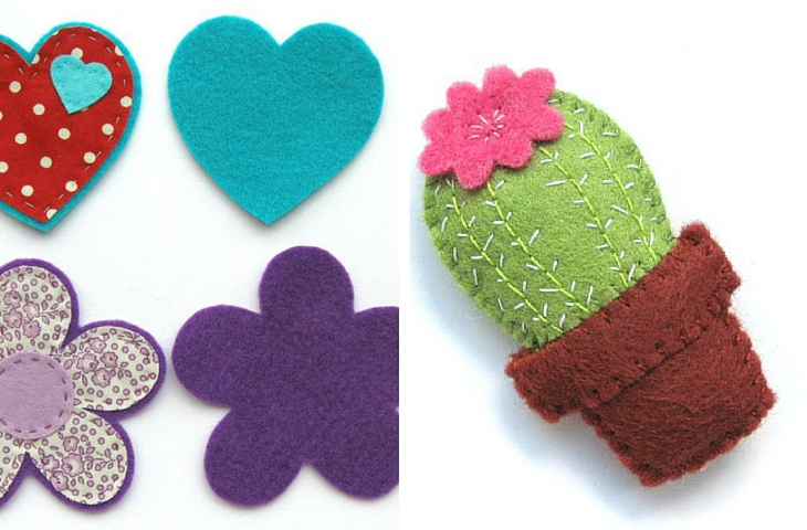 23 manualidades con fieltro - broches