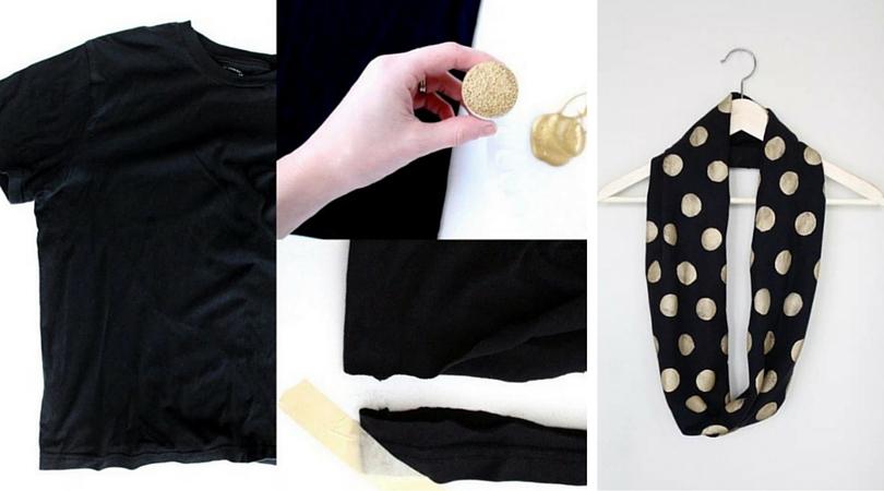 Recicla una camiseta y crea un nuevo pañuelo