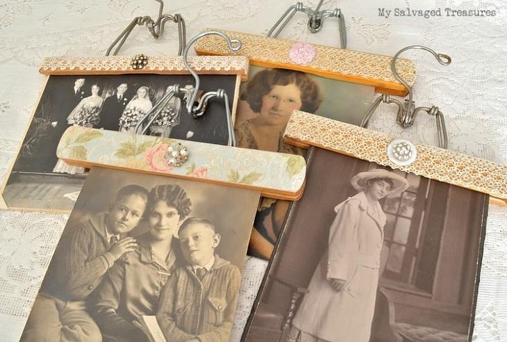 Arte vintage en una percha - Handfie DIY