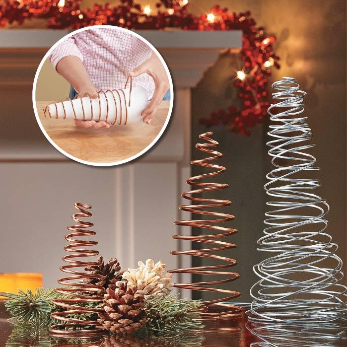 Árboles de Navidad con alambre metálico
