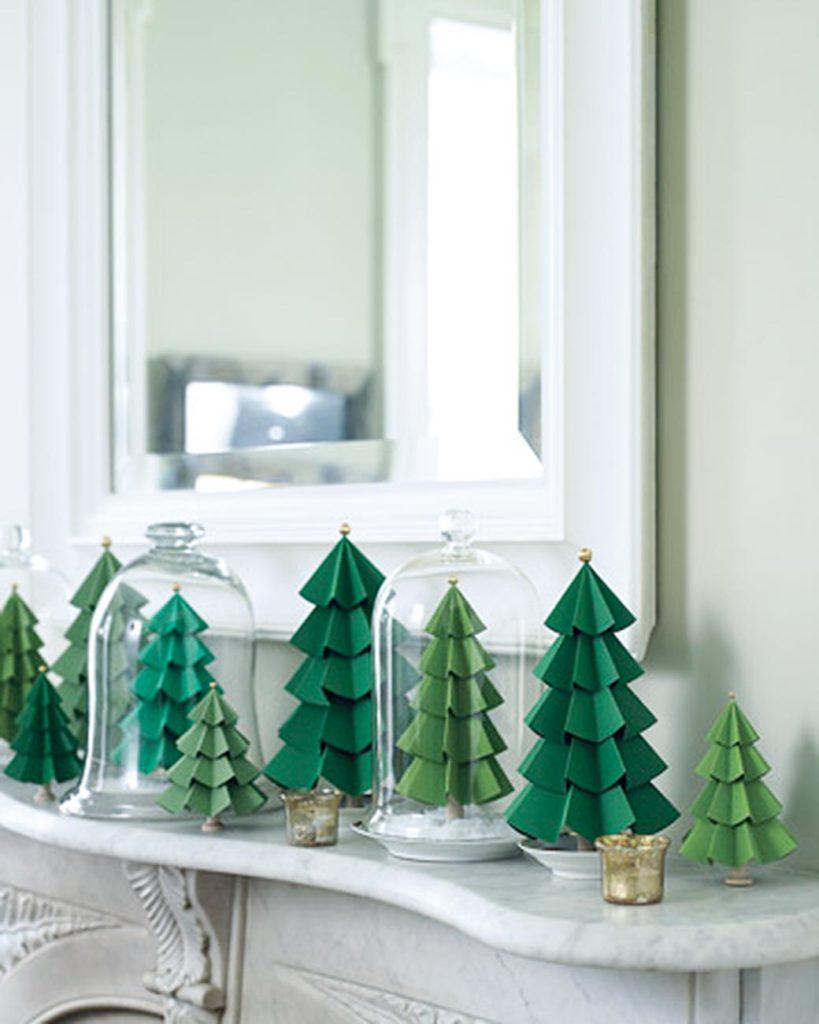 Bosque de árboles de Navidad de cartulina