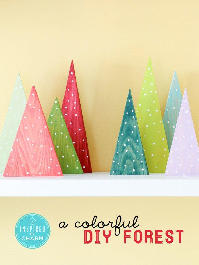 Bosque de árbol de Navidad de colores