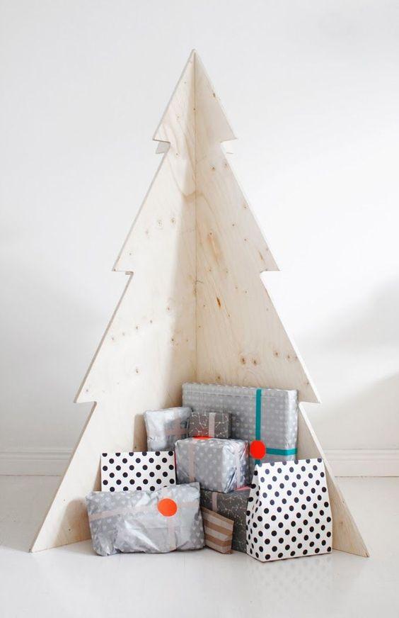 Árbol de Navidad desmontable de madera