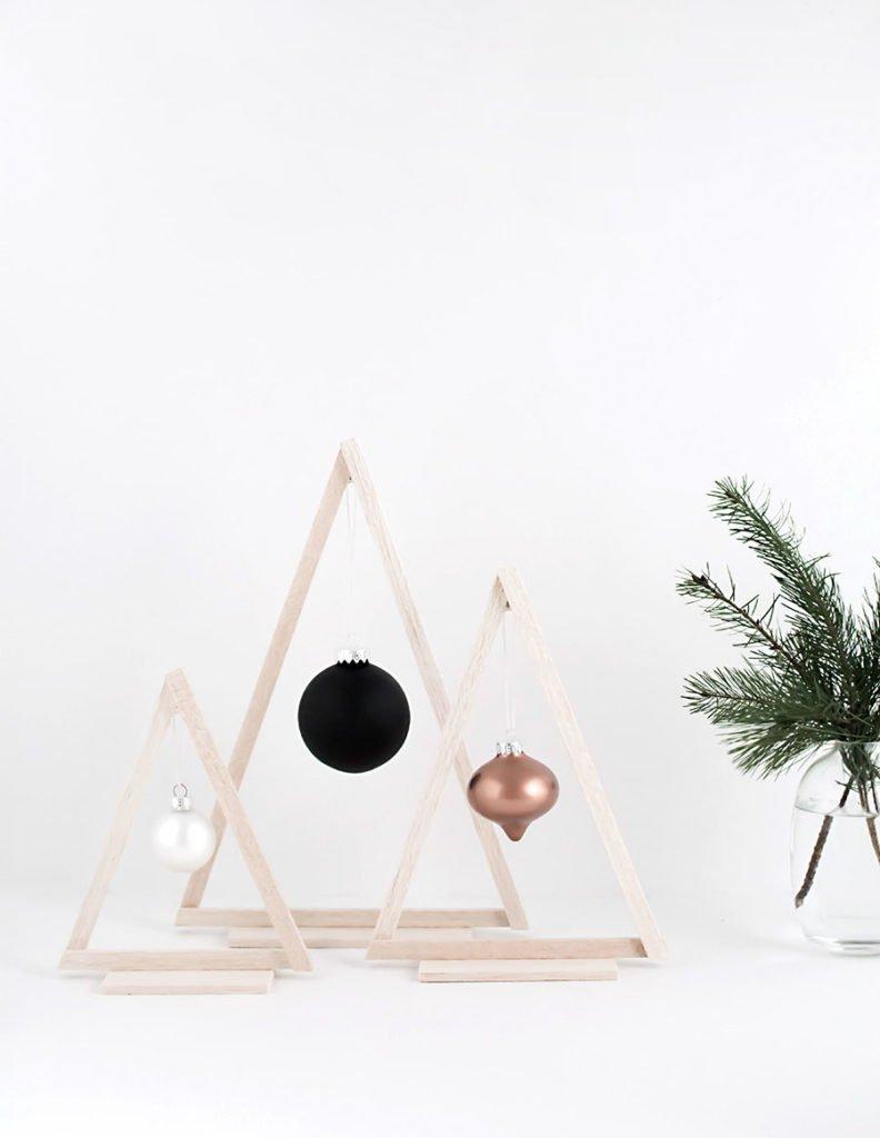 Árboles de Navidad mini de madera