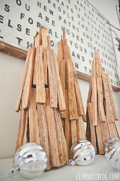 Árboles de Navidad rústicos