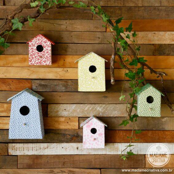 Casitas para pájaros con tetrabriks