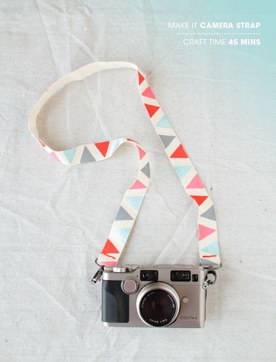 Cinta de tela decorada para la cámara