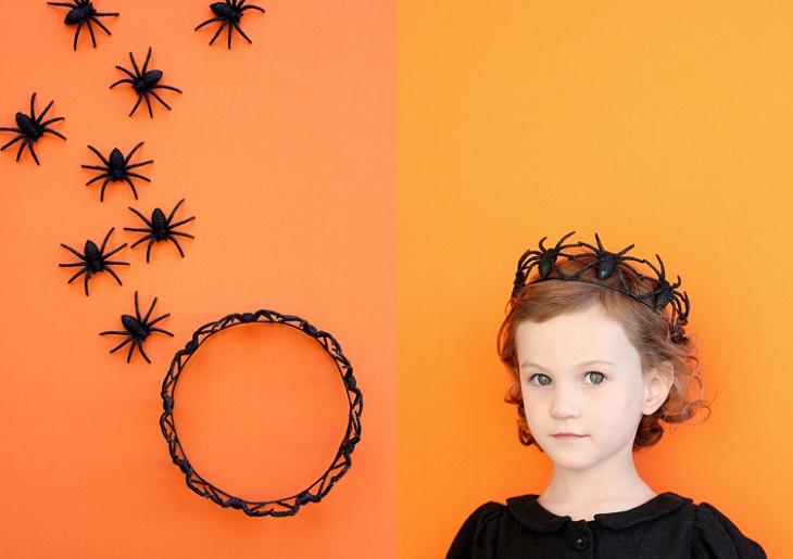 Corona de arañas para Halloween - Handfie DIY