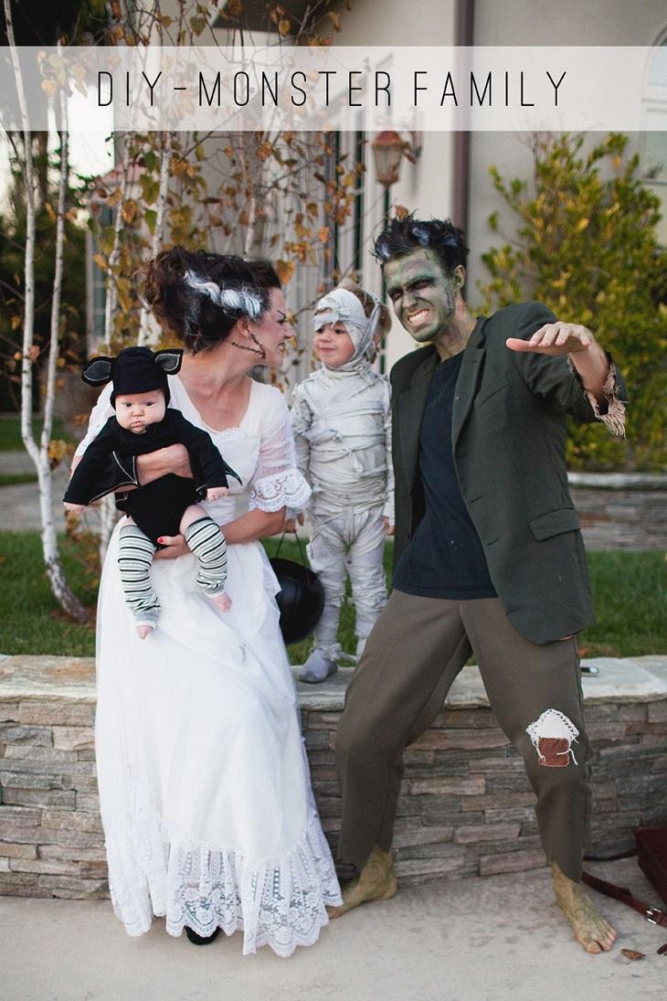 Disfraz DIY de Halloween para toda la familia - Handfie DIY