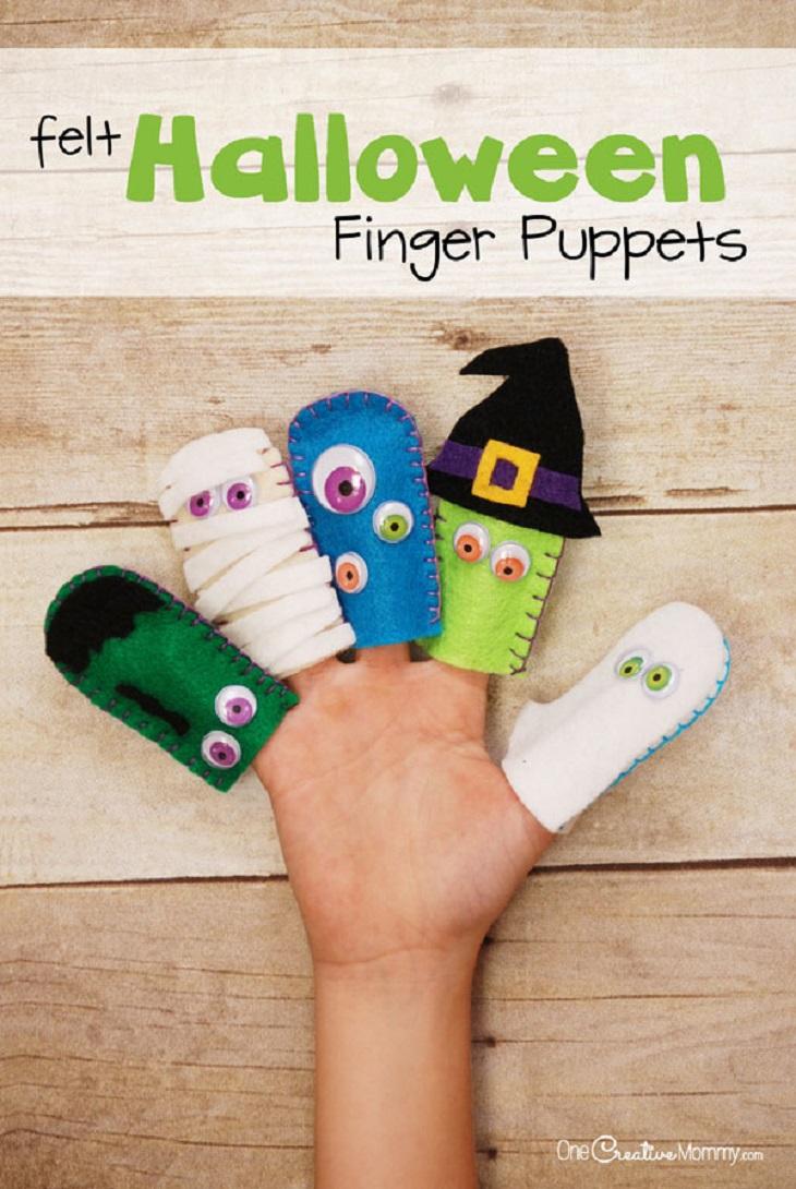 Marionetas de dedos para Halloween - Handfie DIY
