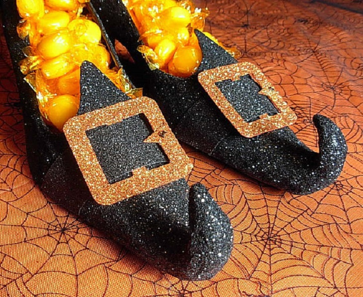 Zapatos de Halloween para caramelos - Handfie DIY