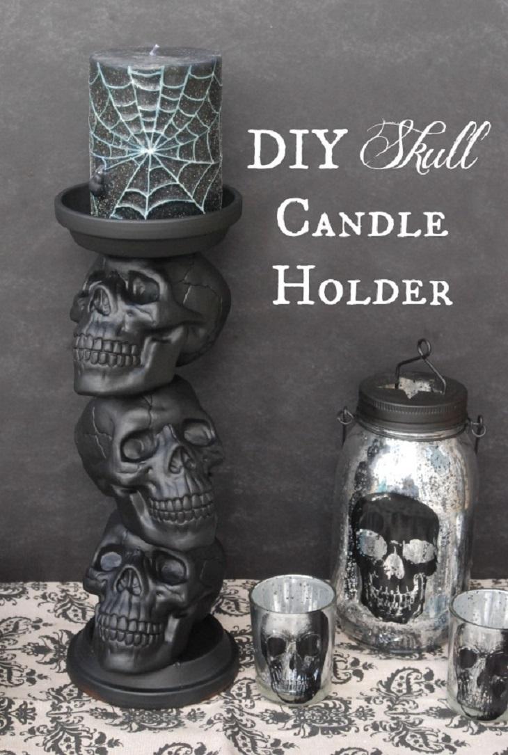 calavera candelabro- Handfie DIY