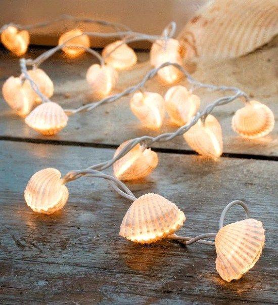 Decorar con conchas - guirnalda