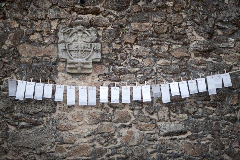 Seating en pared de ladrillo Pazo de Vilaboa