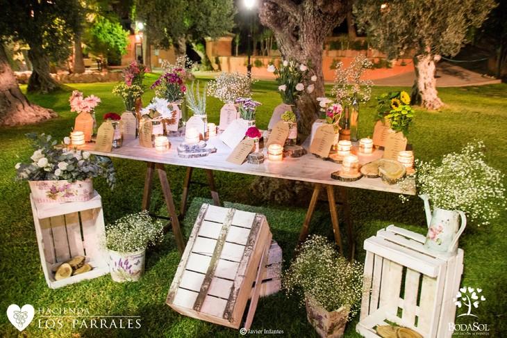 Mesa de regalos DIY Hacienda los Parrales