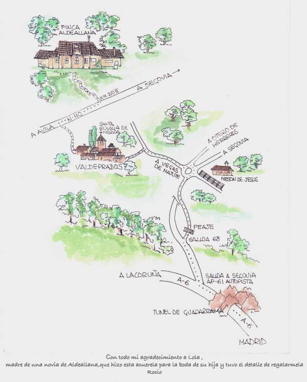 Localización Aldeallana dibujo
