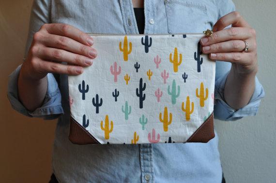 Bolsa de aseo de cactus