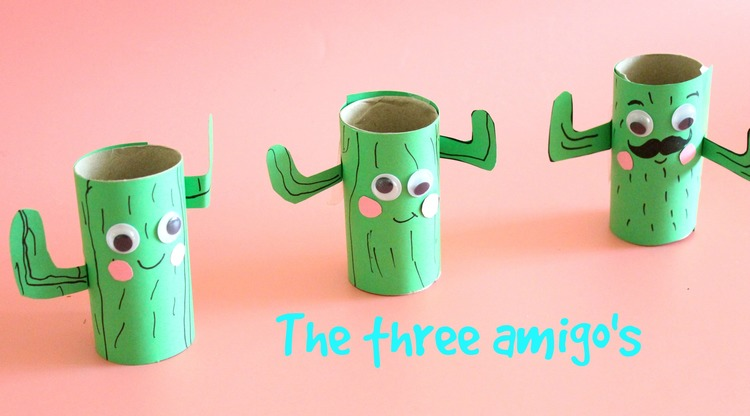 Lapiceros cactus con rollos de papel