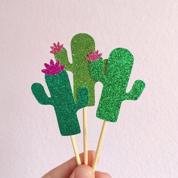 Paillos para fiestas de cactus