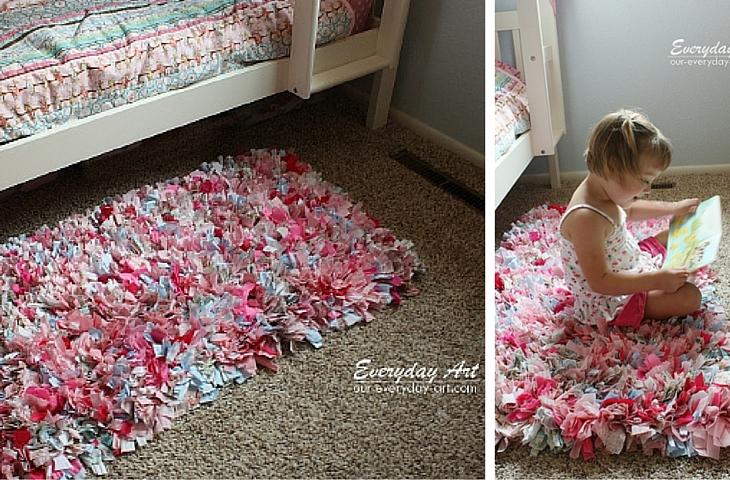 Handfie - 9 ideas de alfombras DIY- alfombras con retales