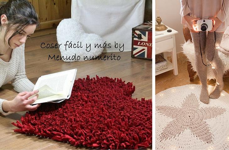 Handfie - 9 ideas de alfombras DIY- alfombras de trapillo
