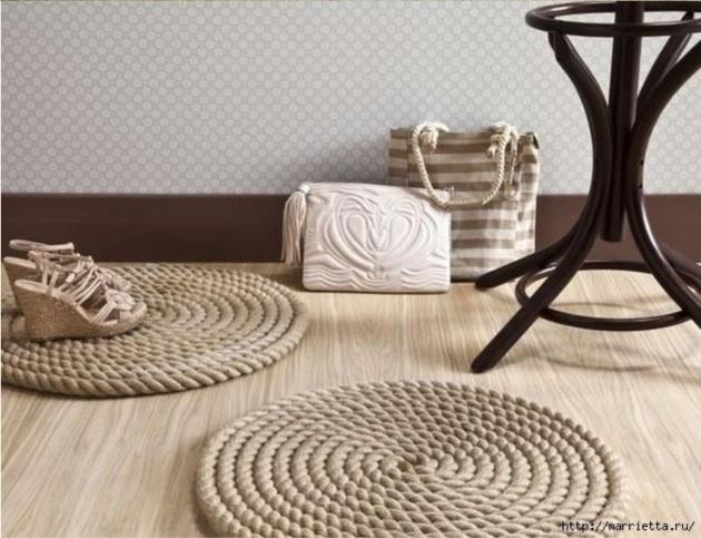 Handfie - 9 ideas de alfombras DIY- crea tu alfombra con cuerda