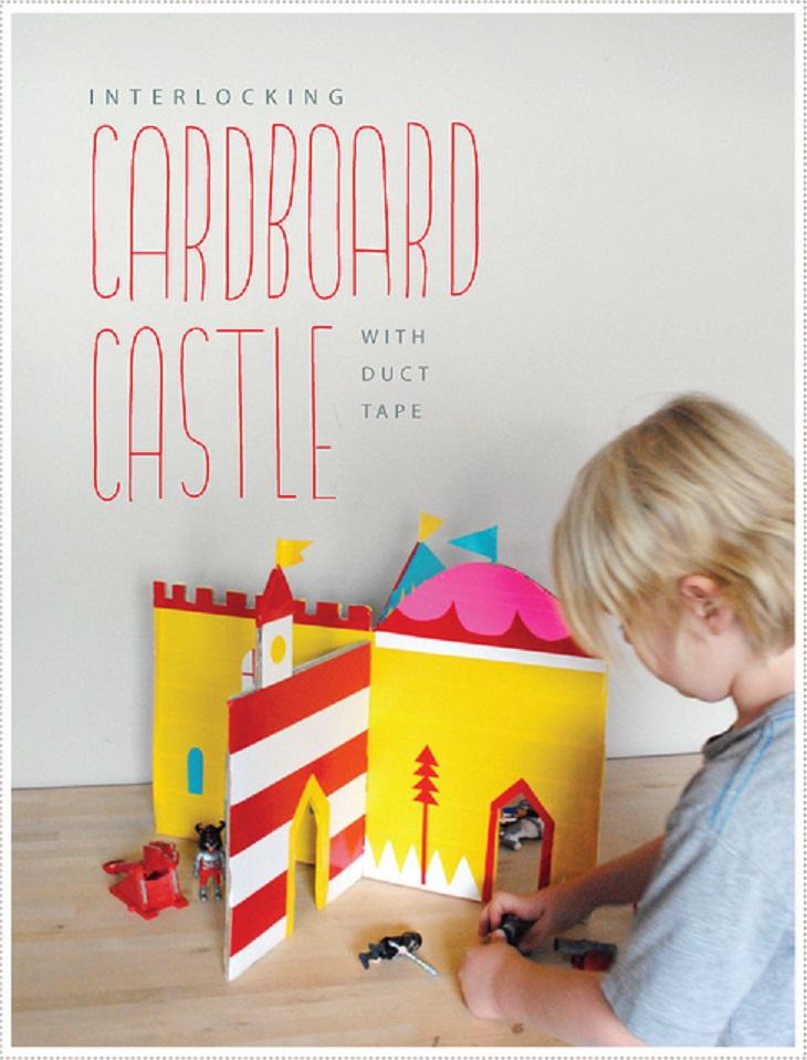 Handfie - 24 manualidades con cajas de cartón - Castillo DIY de juguete