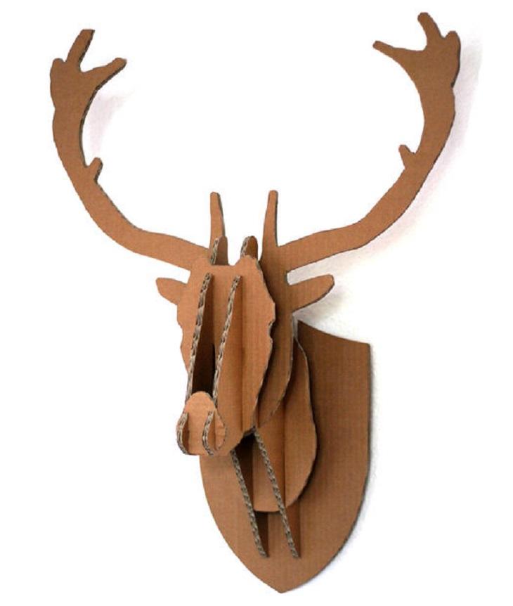 Handfie - 24 manualidades con cajas de cartón - animales de pared