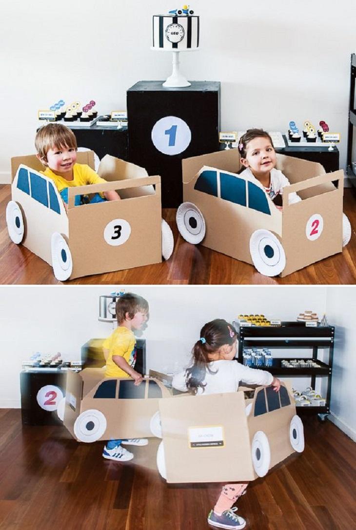 Handfie - 24 manualidades con cajas de cartón - coches de cartón