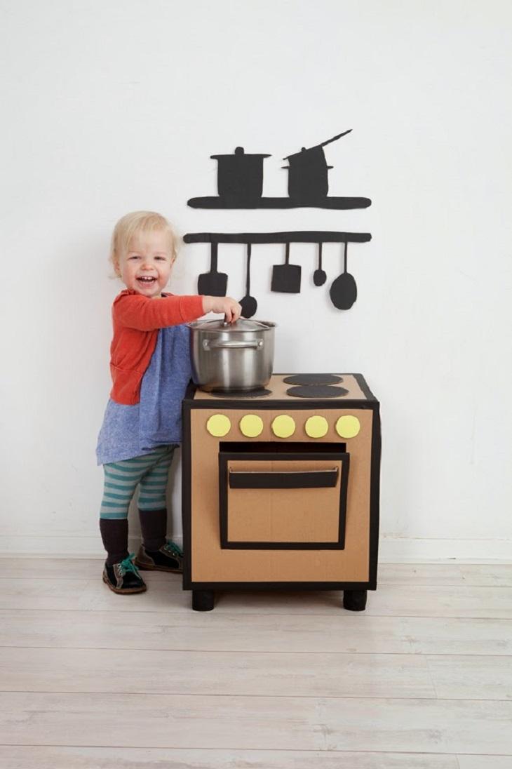 Handfie - 24 manualidades con cajas de cartón - cocina de juguete para los peques