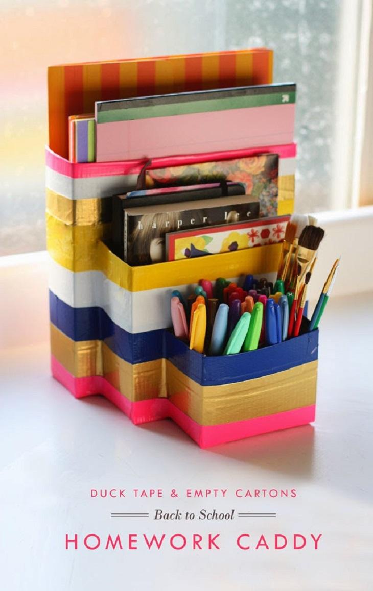 Handfie - 24 manualidades con cajas de cartón - organizador de escritorio