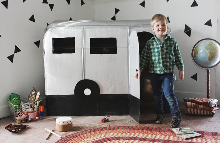Handfie - 24 manualidades con cajas de carton - caravana de cartón
