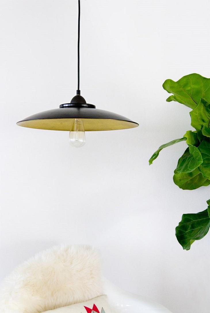 Cuenco ANGENÄM convertido en lámpara
