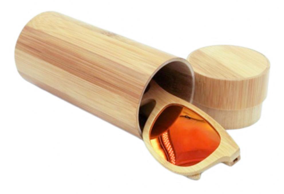 Funda de gafas de madera