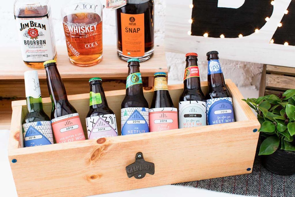 Cajas estanterías para cervezas
