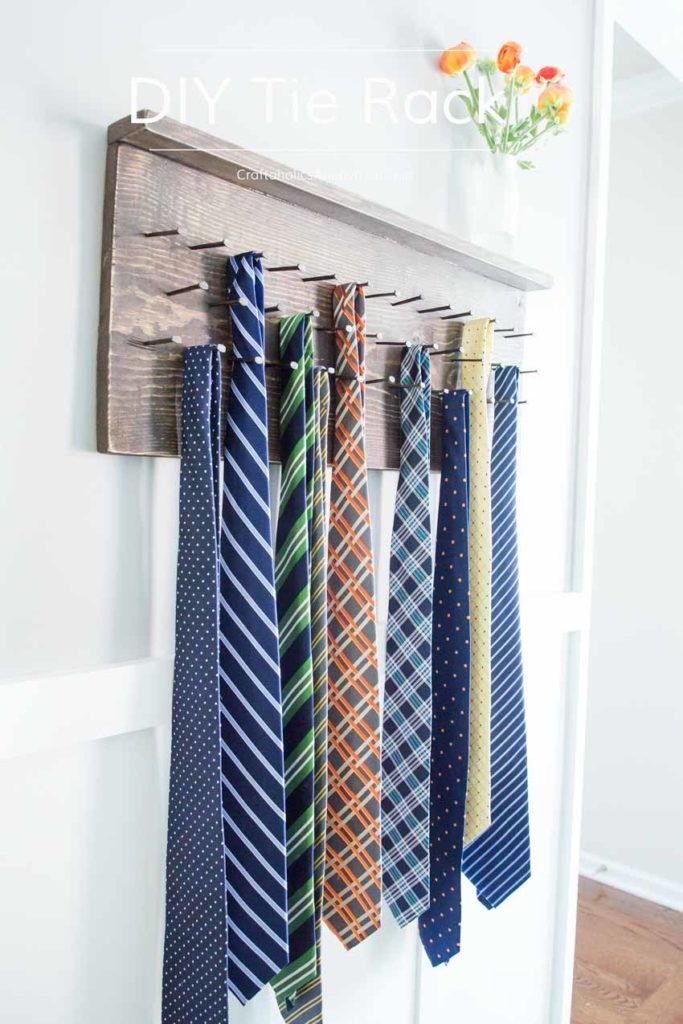 perchero original para corbatas